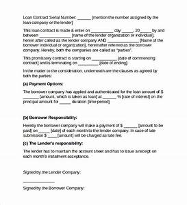 sample loan contract templates 10 free documents in pdf With business loan without documents