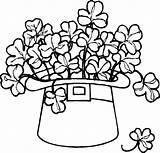 Coloring Pages Shamrocks Shamrock St Patricks Popular sketch template