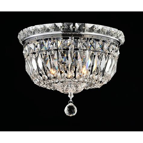 elisa chrome and flushmount chandelier