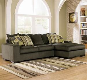 Freestyle pewter two piece sectional sofa by ashley for Ashley furniture freestyle pewter sectional sofa