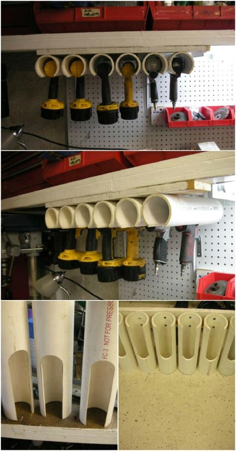totally unexpected pvc pipe organizing  storage ideas