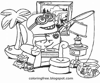 Minion Drawing Cool Things Coloring Pages Cartoon