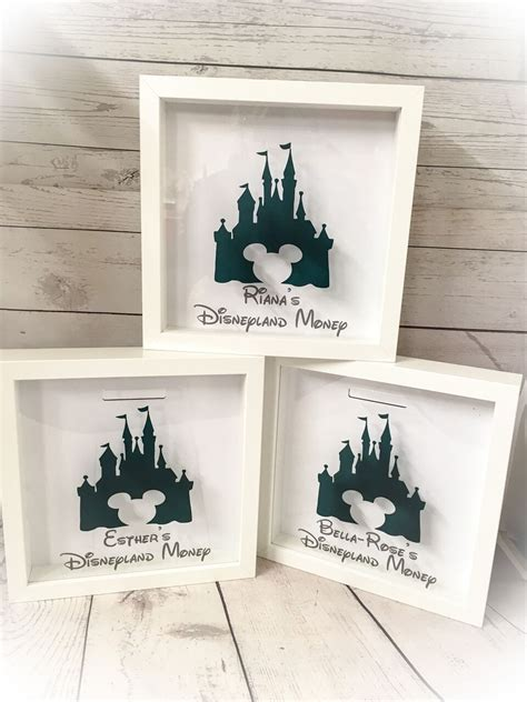 personalised disney world land fund money box holiday