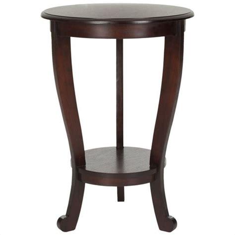 dark cherry wood end tables safavieh heather wood pedastal side table in dark cherry