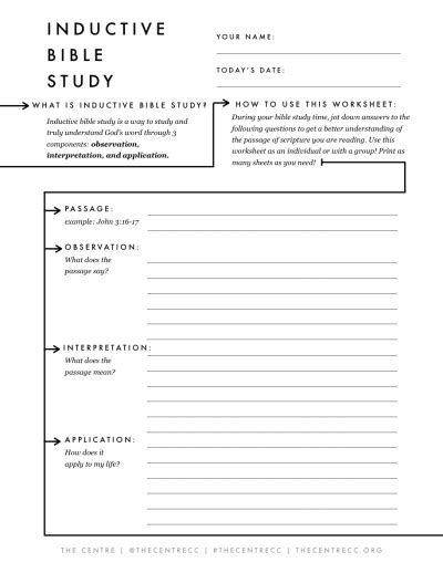inductive bible study sheet the binder project