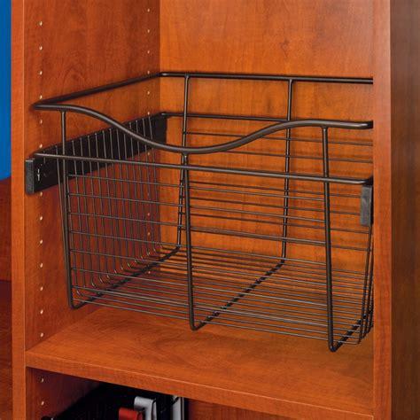 rev a shelf pullout wire basket 18 quot w x 16 quot d x 18 quot h cb