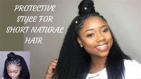 how to style black hair and easy protective hairstyle for 4c b 3815