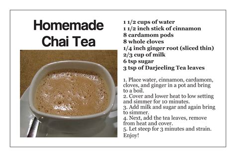 tea recipe how to make chai tea recipe dishmaps