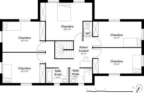 cuisine carré plan maison 160 m à étage ooreka