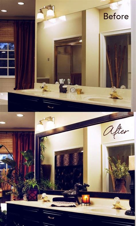 Bathroom Mirror Makeover by Take The Mirror From Builder S Grade To Custom Upgrade In