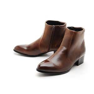 wedding shoes korea mens synthetic leather side zipper ankle boots fashion