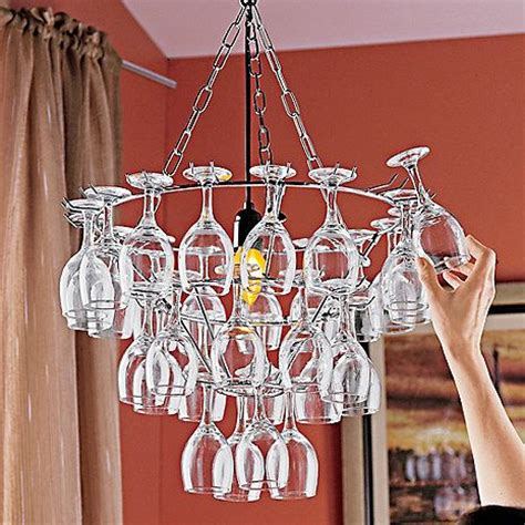 wine glass chandelier at wine enthusiast 249 95 would