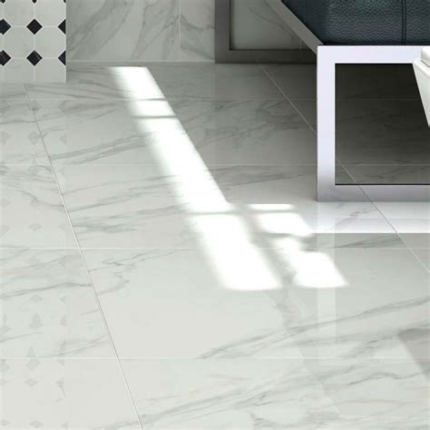pavia marble effect grey gloss porcelain floor tiles