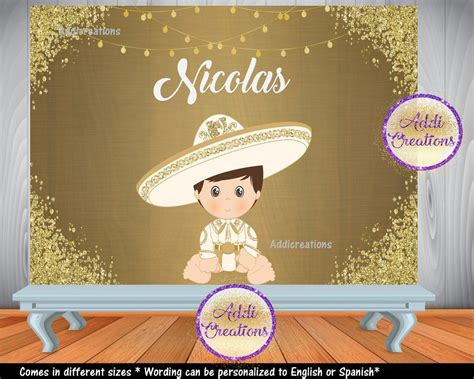 Charro Digital Backdrop , Customized Item, Charro Party
