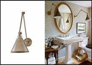 unconventional gooseneck lighting for your bathroom vanity With barn style bathroom lighting