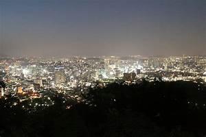 Spring Sunset at N Seoul Tower, Namsan Park in Seoul ...