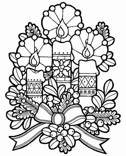 Coloring Christmas Pages Eve Candles Lovely Three