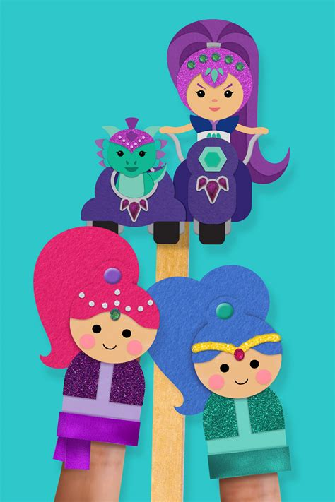 shimmer and shine l shimmer and shine quot pinkie pals quot finger puppets