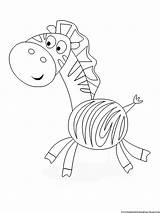 Coloring Pages Printable Zebra Collections sketch template