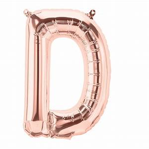 16in rose gold letter d foil balloon With letter balloons rose gold