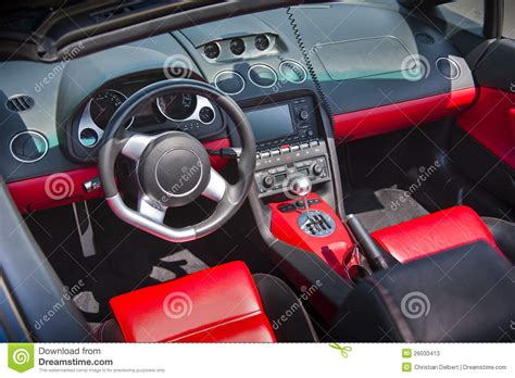 Sports Car Interior In Swede Leather Stock Photos Image