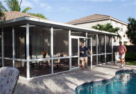 venetian builders inc miami expands sunroom screen