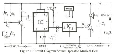 Electronic Bell Circuit Diagram by Circuit Diagram Of Sound Operated Bell Electronics