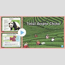 * New * Totul Despre China  Prezentare Powerpoint