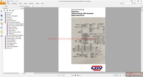 ldv 1994 onwards electrical wiring diagram auto repair