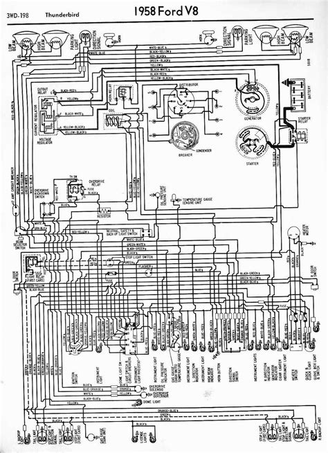1958 Ford Wiring Diagram by Wiring Diagrams Of 1958 Ford Thunderbird 60699 Circuit