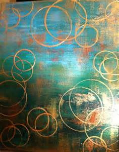 Large Emerald Green and Gold Abstract Painting