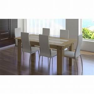Table Avec Chaise Pas Cher : ensemble table bois 6 chaises blanche pas cher ~ Teatrodelosmanantiales.com Idées de Décoration