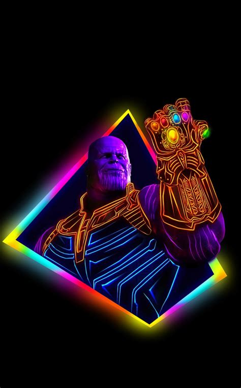 thanos avengers infinity war  outrun art full hd wallpaper