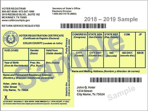 Votetexas.gov » Your Voter Registration Card