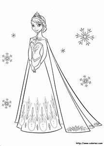 Coloriage Elsa Et Flocons De Neige Dessin Gratuit  U00e0 Imprimer