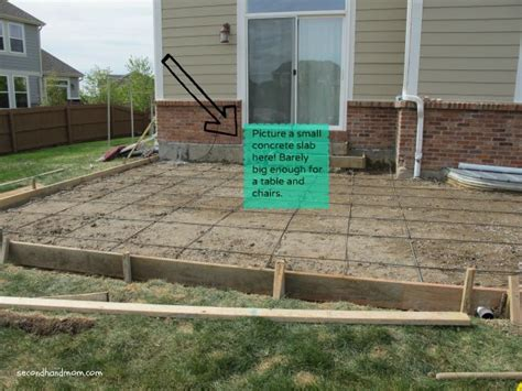 Backyard Concrete Slab by Back Yard Patio Part One The Beginning 1 Quot Search And Design