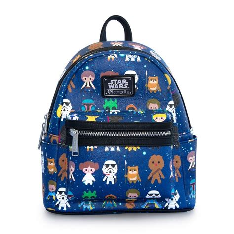 Loungefly Star Wars Cartoon AOP Faux Leather Mini Backpack ...