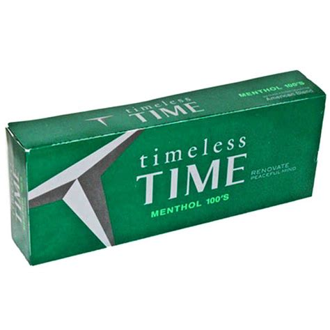 Time Menthol 100s Box  Budget Brands  Cigarettes Texas