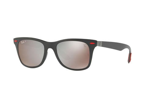 I really want some legit ray. Ray-Ban Rubber Rb4195m Scuderia Ferrari Collection in Black/Silver (Black) for Men - Lyst