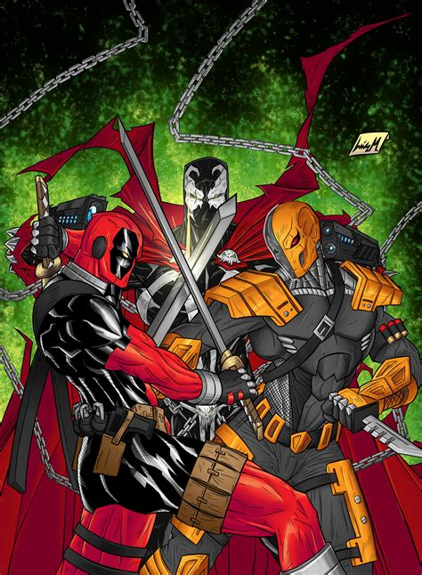 Spawn Vs Deadpool Vs Deathstroke By Chaosxm7 On Deviantart