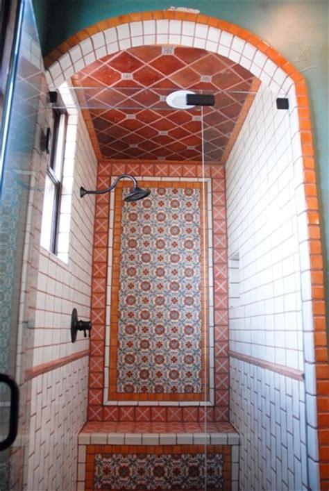 mexican tile mediterranean bathroom austin  clay