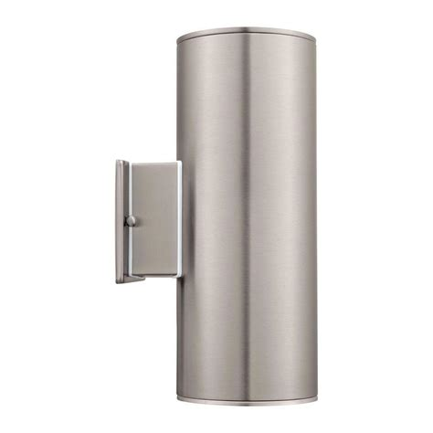 eglo ascoli 2 light stainless steel outdoor wall