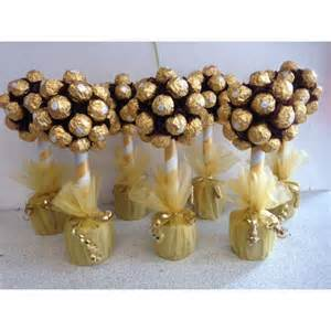 how to make a candy bouquet ferrero rocher tree
