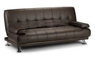 venice faux leather double sofa bed black or brown ebay