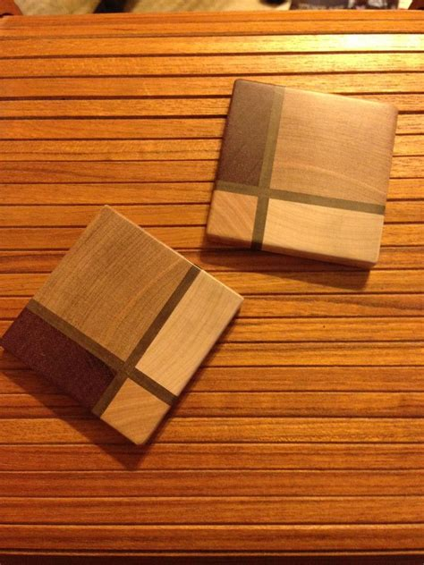 guy  coasters   quick gift   scrap wood