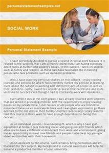 Grad School Essay Examples Social Work Personal Statement Examples Personal