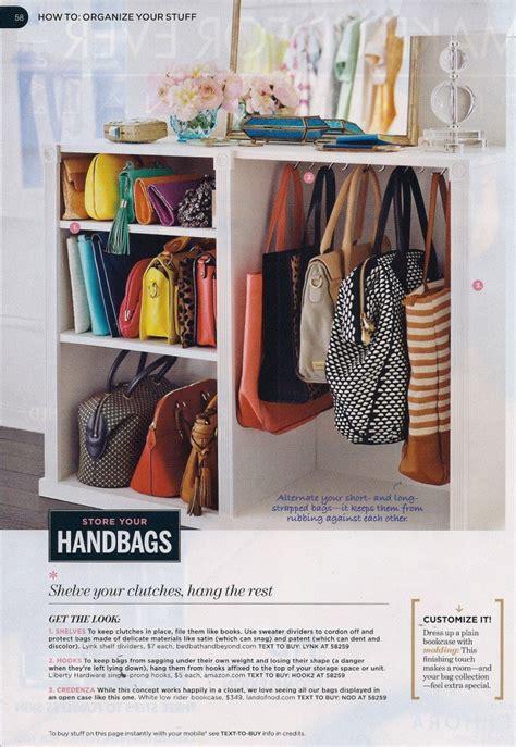 purse closet organizer