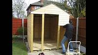 how to build a garden shed Building a shed by yourself - YouTube