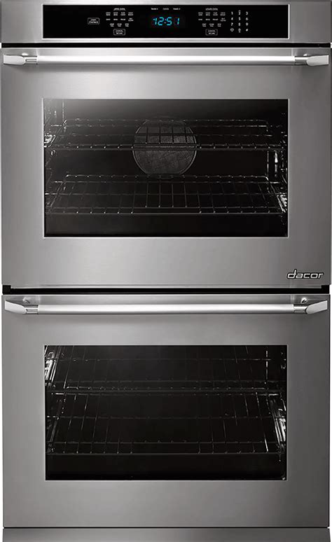 dacor dtosv   double electric wall oven  convection steam  clean hidden