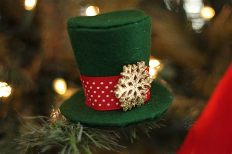 mini top hat ornament tutorial fleece fun
